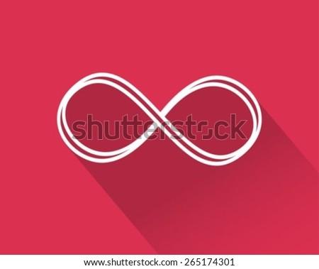 Infinity flat icon  - stock vector