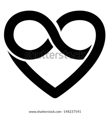 Infinity Heart Symbol Love Forever Icon Stock Vector 148237541