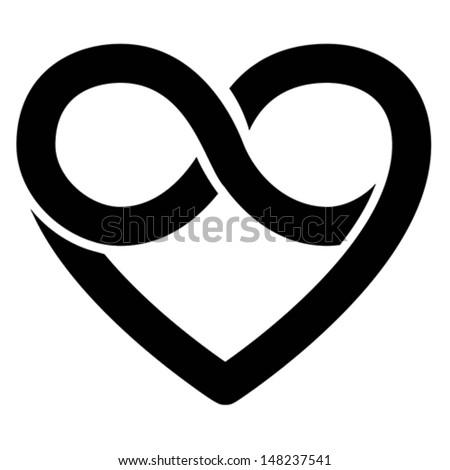 Infinity Heart Symbol Love Forever Icon Stock Photo Photo Vector