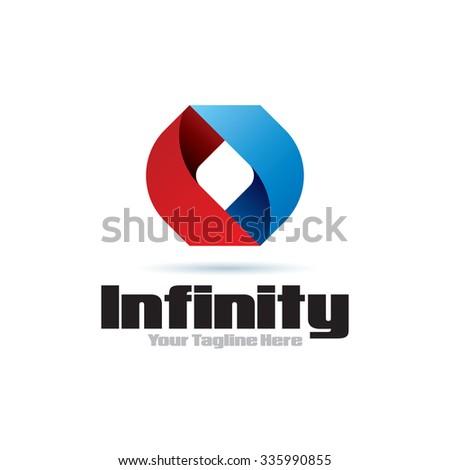 Infinity Icon Logo Element - stock vector