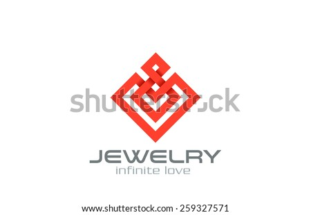 Infinity loop Abstract Square Rhombus Logo design vector template. Jewelry, Luxury, Fashion Business Logotype symbol icon. Infinite looped shape emblem. - stock vector