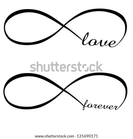 Infinity Love Forever Symbol Stock Vector 125690171 Shutterstock