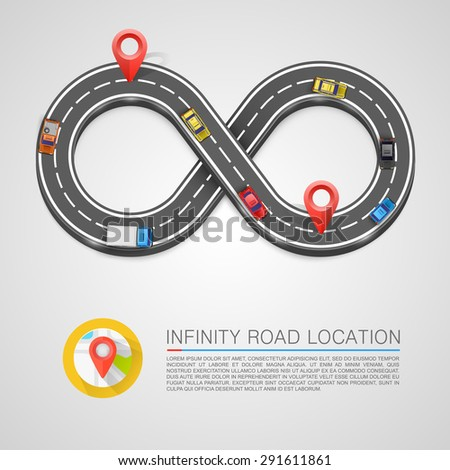 Infinity Road location. Vector illustration - stock vector