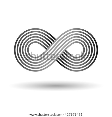 Infinity sign. Nice element for your design. - stock vector