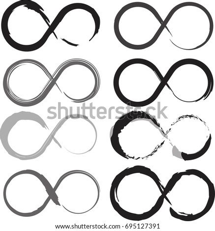 Infinity Symbol Created Grunge Style Stock Vector 2018 695127391