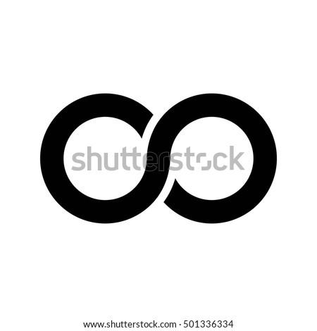 Infinity Symbol Icon Aka Lemniscate Looks Stock Photo Photo Vector