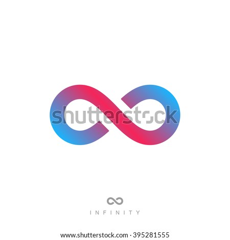 infinity symbol or sign. infinite icon. infinity logo. isolated on white background. vector illustration - stock vector