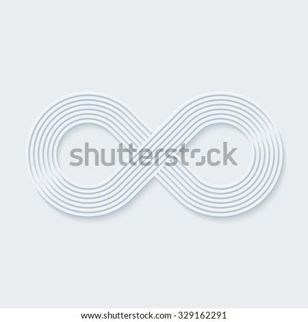 Infinity symbol. Vector EPS10. - stock vector