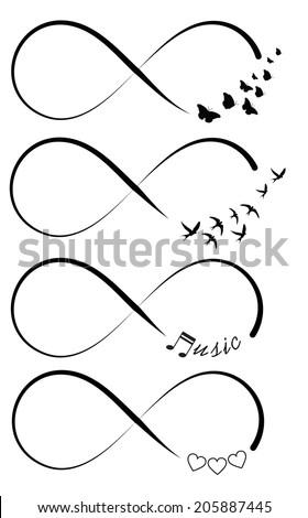 Infinity symbols - stock vector