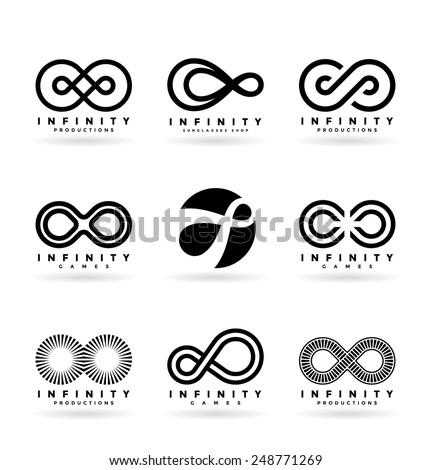 Infinity symbols (4) - stock vector