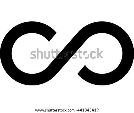 Infinity Vector Illustration. Black Eternity Symbol Icon.