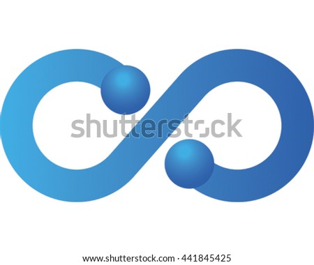 Infinity Vector Illustration. Blue Eternity Symbol Icon.