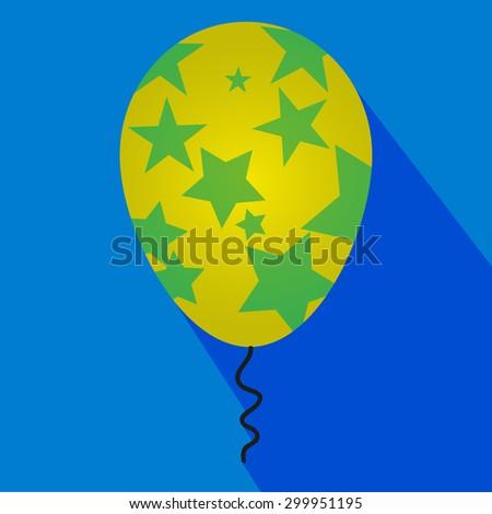 inflatable balloon vector icon - stock vector