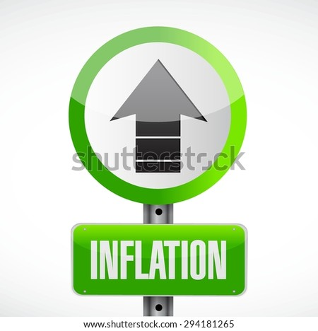 inflation road sign concept illustration design graphic - stock vector