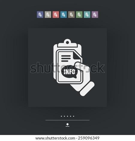 Info document icon - stock vector