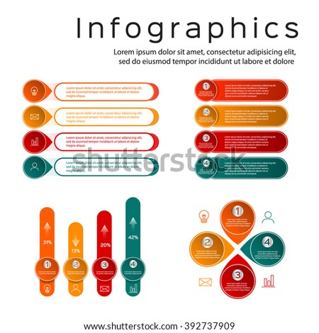 info-graphic chart template, graph Info-graphics Elements - stock vector