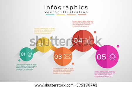 Info-graphic design template, 5 options, parts, steps or processes. workflow layout,  number options, web design.