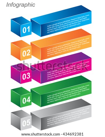 Info-graphic design templates in the form of a 3D box. Idea to display  sc 1 st  Shutterstock & Infographic Design Templates Form 3d Box Stock Vector 270765965 ... Aboutintivar.Com