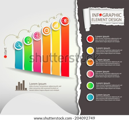 info graphic element design with business planing - stock vector