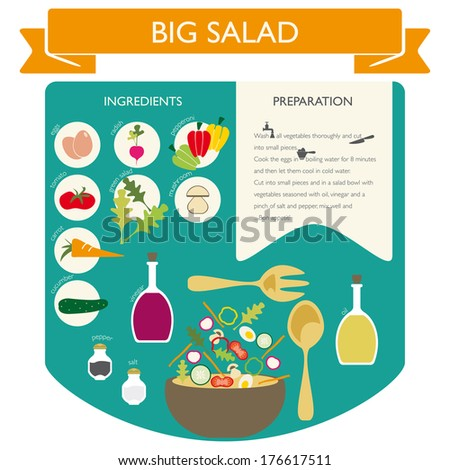 Info graphic food - stock vector
