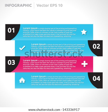 Info Graphic Lines Design Template Blue Stock Vector 143336917 ...