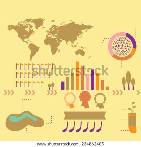 info graphic  world stats 8 - stock vector