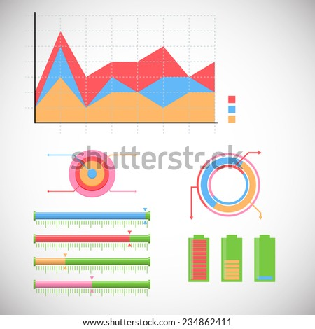 info graphic world stats 6 - stock vector