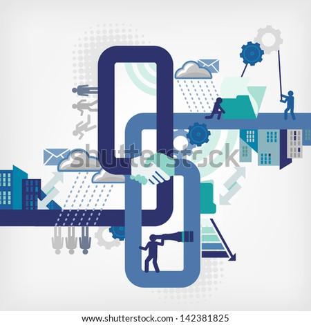 info-graphics/business - stock vector