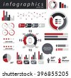 Info graphics Business statistic vector set - stock vector