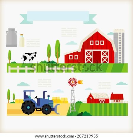 info-graphics of farm - stock vector