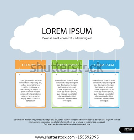 Info Graphics Presentation Template # 6 - stock vector