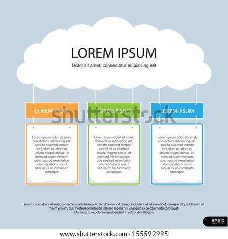 Info Graphics Presentation Template set 6, Vector illustration - stock vector