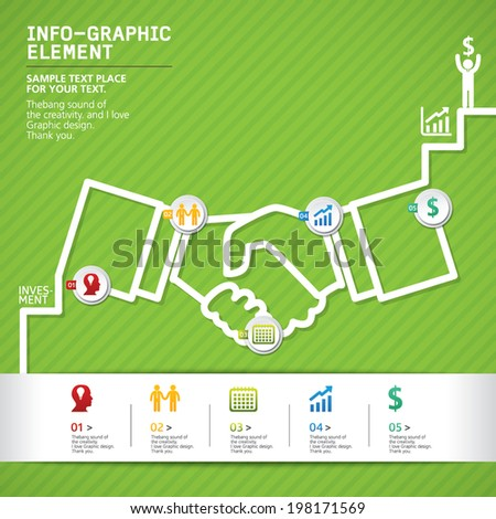 Info-graphics vector design template, info-graphics for presentations. can be used for business, marketing templates and graphics  - stock vector