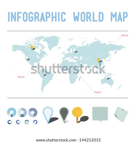 Info map - stock vector