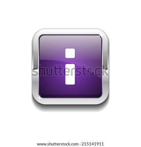 Info Rounded Corner Vector Purple Web Icon Button