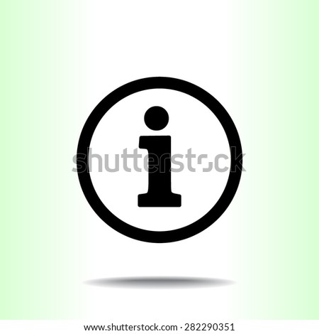 Info sign icon, vector illustration. Flat design style  - stock vector