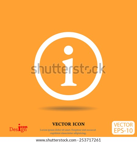 info vector icon - stock vector