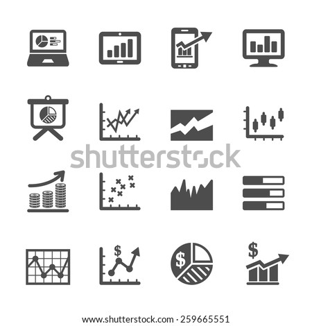 infographic and chart icon set 6, vector eps10. - stock vector