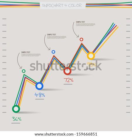 Infographic Arrow Diagram Graph Chart 4 Stock Vector 159666851 ...