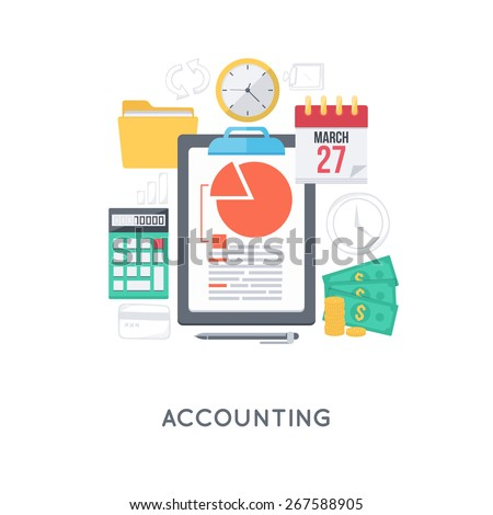Infographic background. Management accounting concept. Modern flat design template.  - stock vector