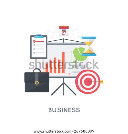Infographic background. Management and monitoring. Modern flat design template.  - stock vector