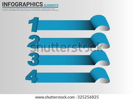 Infographic banners Templates for Business.Vector abstract 3d paper design element. - stock vector