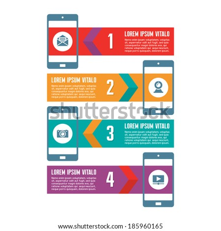 Infographic Business Concept - Vector Scheme with Icons - stock vector