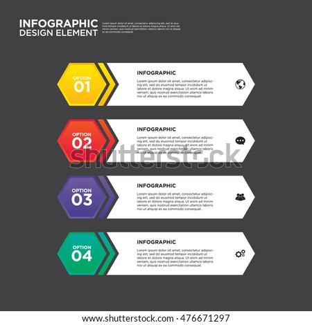 infographic business report template layout design element vector illustration can be used for workflow layout