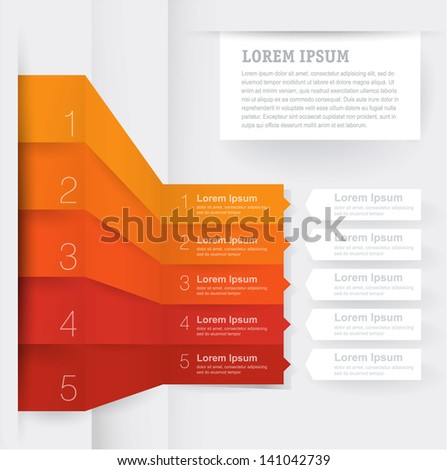 Infographic chart template. Vector - stock vector