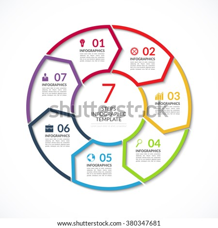 Vector Infographic Circle Template Business Concept Stock Vector ...