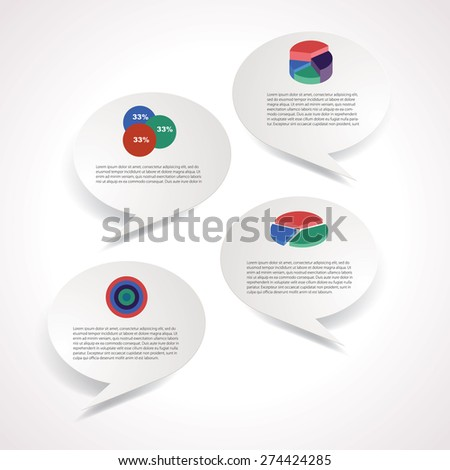 Infographic composition with clouds vector illustration. - stock vector