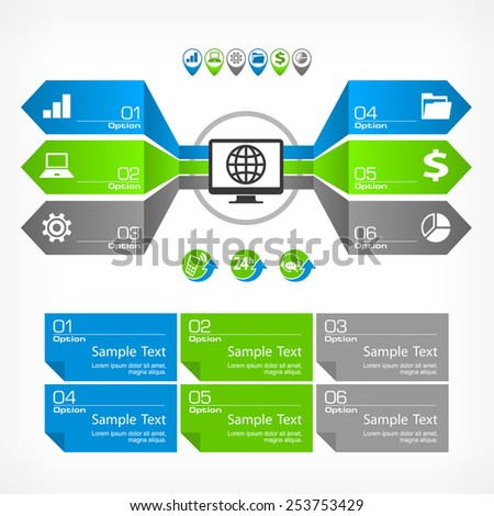 Infographic concept elements and text, vector illustration - stock vector