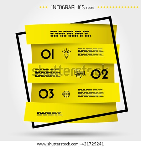 infographic concept. infographic template. modern three steps. square infochart. element for magazine and brochure