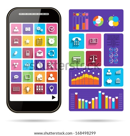 Infographic Concept - Vector Scheme with Icons - stock vector